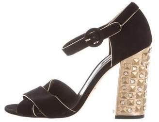 Dolce & Gabbana Embellished Crossover Sandals
