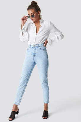 MANGO Cropped Mom Jeans