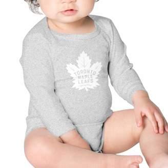 KHAKSDHA Baby Toronto Maple Leafs Logo Bodysuit,100% Cotton Onesies,Long Sleeve Romper for (Boys,Girls)