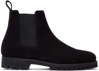 Etq Amsterdam Black Suede Chelsea Boots
