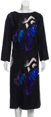 Rachel Comey Graphic Print Midi Dress