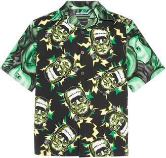 Prada Printed Cotton-Poplin Shirt Size: S