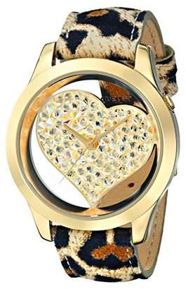 GUESS U0113L7 Women's Leopard Print Heart Watch