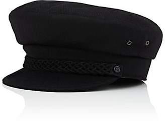 Eric Javits Men's Wool Newsboy Cap - Black
