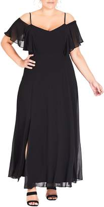 City Chic Sweet Shoulder Maxi Dress