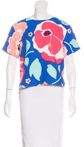 Kate SpadeKate Spade New York Floral Print Short Sleeve Top