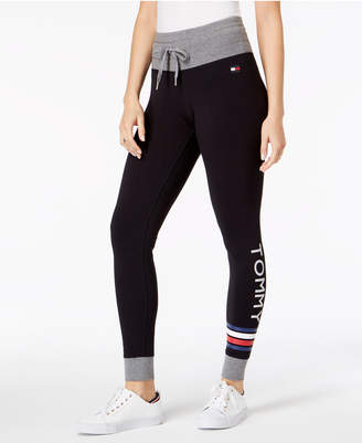 Tommy Hilfiger Logo Drawstring-Waist Leggings, Created for Macy's