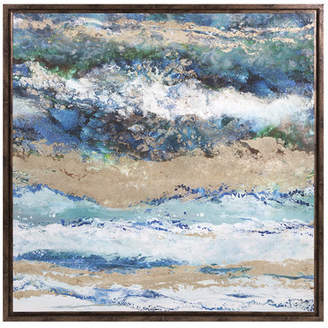 Willa Arlo Interiors 'Seaside Waves' Framed Graphic Art on Canvas