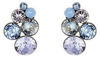 Konplott Women's Stud Earrings Petit Brass Glass Multi 2.1 cm – 5450543474250