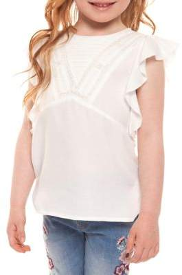 Dex Little Girl's Ruffled Cap-Sleeve Top