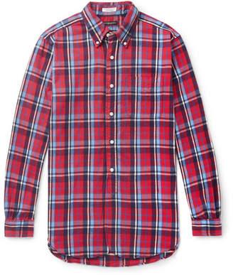 Engineered Garments 19th Century Button-Down Collar Checked Cotton-Flannel Shirt