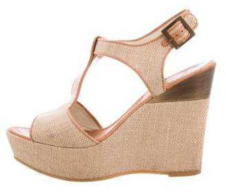 Tibi Woven Wedge Sandals