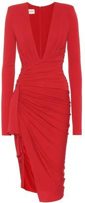 Alexandre Vauthier Long-sleeved stretch crepe dress