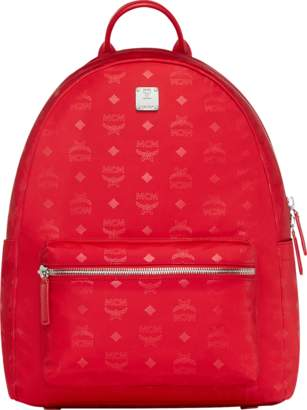 MCM Dieter Teardrop Backpack In Monogram Nylon