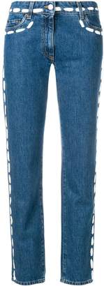 Moschino painted stitch jeans