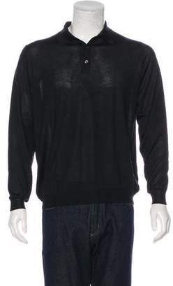 Malo Cashmere & Silk Polo Sweater