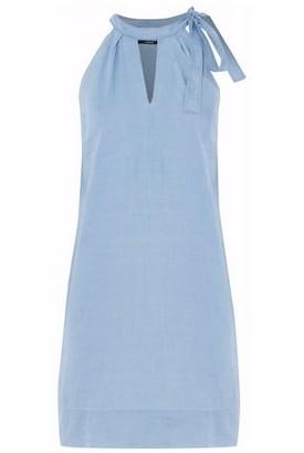 J Brand Cutout Cotton-Chambray Mini Dress