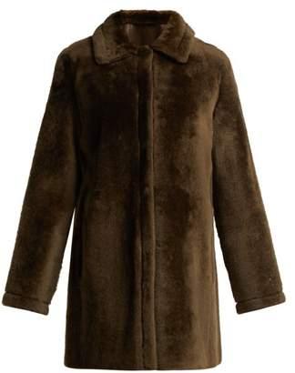 Yves Salomon Reversible Shearling Coat - Womens - Dark Green