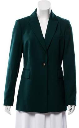 Donna Karan Long Sleeve Peak-Lapel Blazer