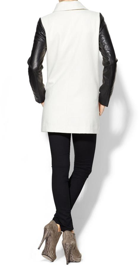 Juicy Couture Tinley Road Vegan Leather Sleeve Coat