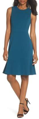 Eliza J Flounce Hem Scuba Sheath Dress