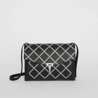 Burberry Small Link Print Leather Crossbody Bag