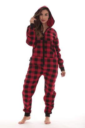 f2143112be23  followme Jumpsuit Adult Onesie Pajamas 6439-RED-M
