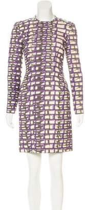 Maison Rabih Kayrouz Wool Printed Dress