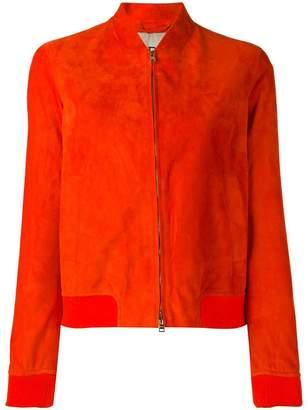 Herno leather bomber jacket