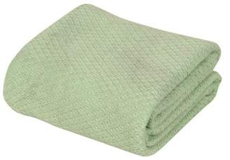 +Hotel by K-bros&Co Hotel Luxury Collection Intradeglobal Hotel Luxury Super soft Cotton Blanket, King, Surf Spray Green