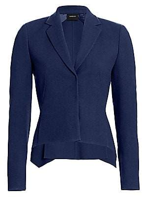 Akris Women's Gareth Wool Crepe Jacket