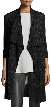 Eileen Fisher Merino Shimmer Cardigan, Black $338 thestylecure.com