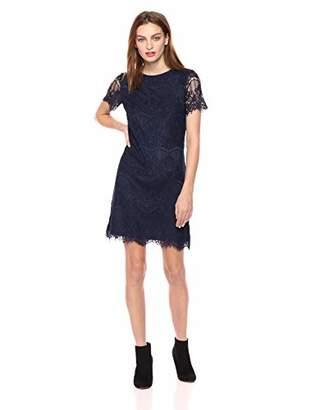 Kensie Dress Women's LACE Shirt Dress