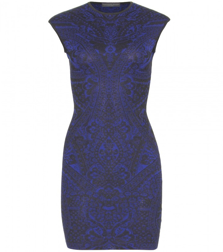 Alexander McQueen Silk and wool-blend dress