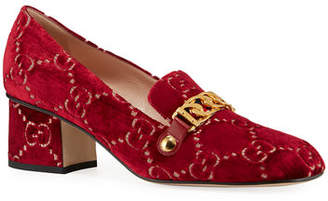 2b1d7e1b7d51 Gucci Sylvie 55mm GG Velvet Loafer