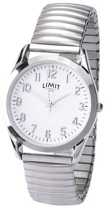 Men's Round White Dial Expander Watch