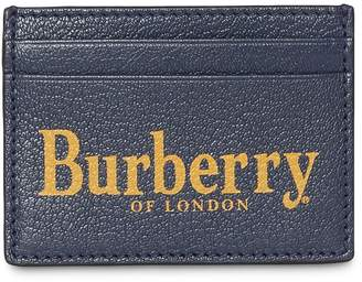 Burberry Leather Printed Sandon Credit Card Holder