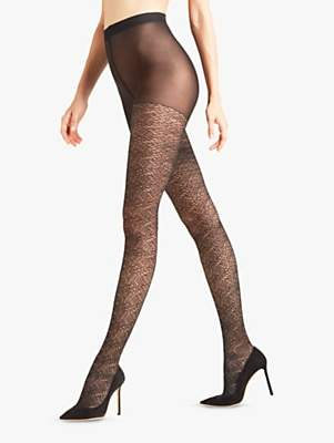 19eefd87d555b Falke 10 Denier Wild Luxe Fishnet Tights, Black