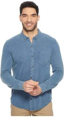 Mod-o-doc Bass Rock Long Sleeve Button Front Polo Shirt Men's Long Sleeve Button Up