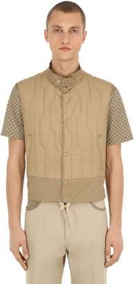 Salvatore Ferragamo High Collar Quilted Tech Vest