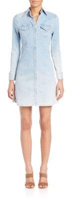 AG Adriano Goldschmied Jacqueline Western Button-Up Shirt Dress