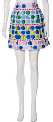 DELPOZO Mini Polka Dot Skirt
