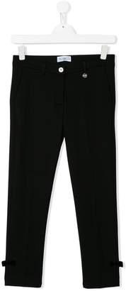 Simonetta TEEN bow-detailed skinny trousers