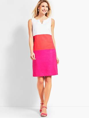 Talbots Textured Colorblock Sheath Dress