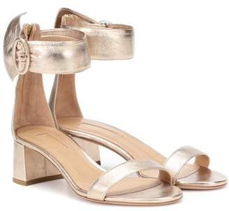 Aquazzura Palace 50 leather sandals