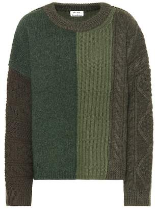 Acne Studios Patchwork wool sweater
