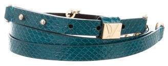 Diane von Furstenberg Embossed Double Wrap Belt
