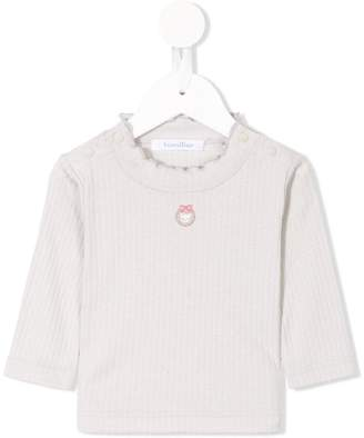 Familiar scalloped-collar sweater