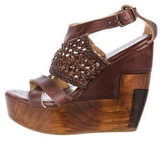 Bed Stu Leather Platform Wedges