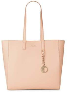 Versace Chain & Medallion-Detailed Leather Tote
